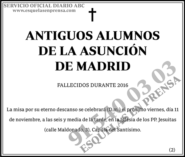 Antiguos Alumnos de la Asunción de Madrid